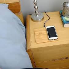 diy charging dock wireless charging nightstand bamboo dock wireless charger