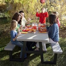 Lifetime 6 Folding Table Lifetime Products 6 Ft W Frame Folding Picnic Table Hayneedle