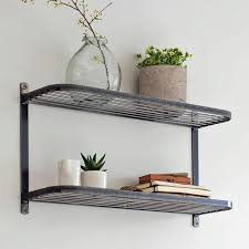 Metal Utility Shelves by Rustic Shelving U0026 Industrial Wire Shelves The Farthing