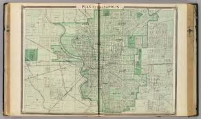 Iupui Map Plan Of Indianapolis David Rumsey Historical Map Collection