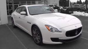 maserati white sedan 2015 maserati quattroporte s q4 review youtube