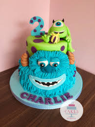 monsters inc birthday cake monsters inc sullivan and mike 2 tier bright birthday cake cakes
