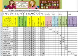 Restaurant Inventory Spreadsheet by Food Storage Inventory Spreadsheets You Can For Free