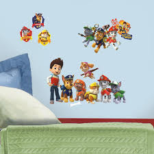 amazon ca wall stickers murals tools home improvement roommates rmk2640scs paw patrol peel and stick wall decals