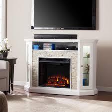 Media Electric Fireplace Bellingham 52 25 In W Corner Convertible Media Electric Fireplace