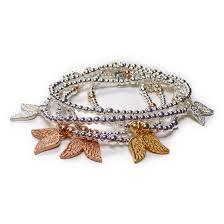 sterling silver rose gold bracelet images Sterling silver mixed metal mini mixed ball bracelet with double jpg