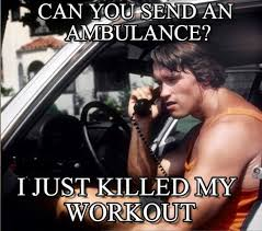 Arnold Gym Memes - can you send an ambulance arnold phone meme on memegen