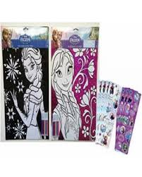 frozen sheets sweet deal on disney frozen coloring sheets with markers set