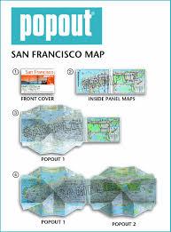 Presidio San Francisco Map by San Francisco Popout Map Pop Up City Street Map Of San Francisco