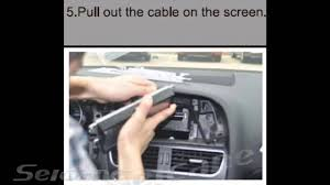 how to upgrade remove 2008 2013 audi a4 a5 stereo head unit youtube