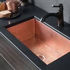 Cheap Kitchen Sinks Black Admirable Black Single Copper Kitchen Sink With Black Corner