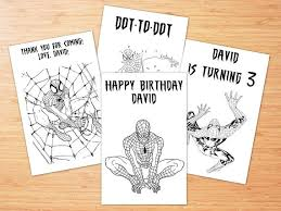 spiderman birthday coloring page digital spiderman birthday coloring pages 4 spiderman