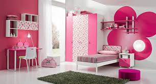 bedroom flower wallpaper black carpet pink wall rack white wall