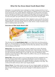 south beach diet scam