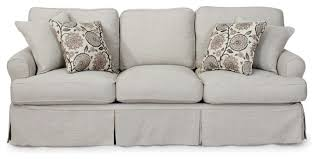 Couch With Slipcover Sunset Trading Horizon Sofa Slip Cover Light Gray Farmhouse