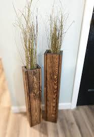 sale set 24 and 18 rustic floor vases wooden