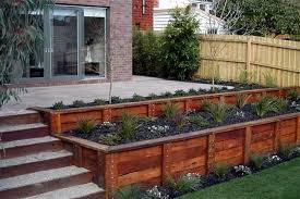 Cedar Landscape Timbers by Timber Retaining Wall Designs And This 774 1279745510