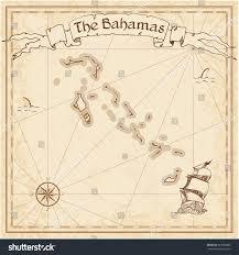 Map Bahamas Bahamas Old Treasure Map Sepia Engraved Stock Vector 367588985