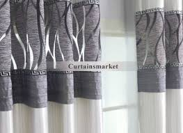 Curtains White And Grey Grey And White Blackout Curtains Eulanguages Net