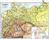 map of germany showing rivers europe germany