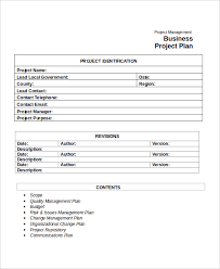 project business plan template project management plan templates