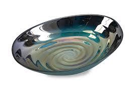 imax 83101 moody swirl glass bowl with glossy finish