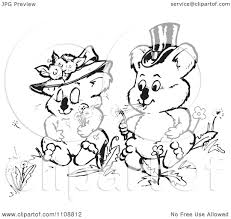 wedding wishes clipart clipart black and white koala wedding blowing dandelion