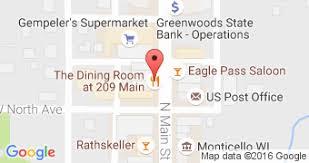 The Dining Room Monticello Wi Restaurants In Montello Wisconsin Information Menu