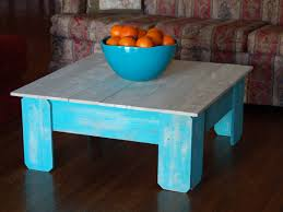 distressed coffee table painted with mms seguro square white and