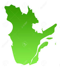 Canada Province Map Map Of Canadian Province Of Quebec In Green Isolated On White