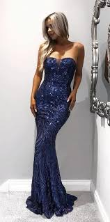 rochii online mermaid strapless sweep royal blue lace prom dress with sequins