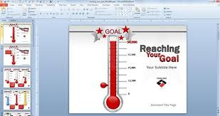 thermometer powerpoint template animated goal chart template for