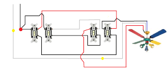 4 way switch wiring diagram multiple lights single light 4 way switch power via to wiring diagram for 2
