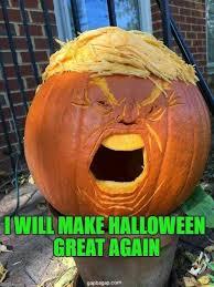 Pumpkin Meme - and that trademark hair trump pumpkin