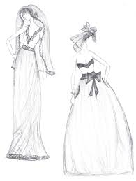 drawn wedding dress lace pencil and in color drawn wedding dress