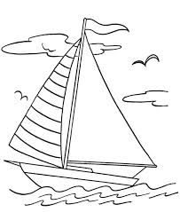 Sailing Boat Coloring Pages Batch Coloring