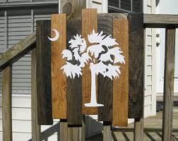 South Carolina Home Decor Palmetto Tree Etsy