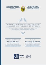 rapport de stage comptabilité sujet les compétences et les actions