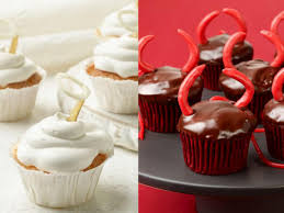 Halloween Appetizers Food Network by Choose Wisely Angel Vs Devil Cupcakes For Halloween Fn Dish