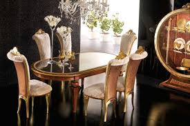 dining room gold chair glass table u2013 elegant luxury dining room