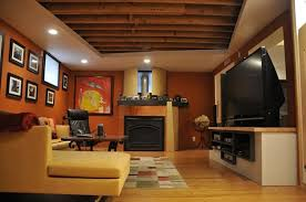 Unfinished Basement Ideas On A Budget Cheap Basement Ideas Fireplace Basement Ideas