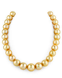 gold pearls necklace images Certified 12 15mm golden south sea pearl necklace aaaa quality jpg