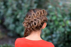 cute girl hairstyles how to french braid diagonal bow braid popular hairstyles cute girls hairstyles