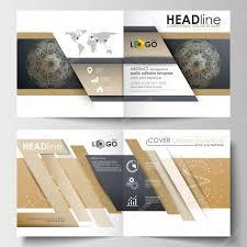 template for square design brochure magazine flyer leaflet