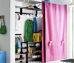 Ikea Pink Curtains Curtain On Wire To Hide Storage Ikea Organize Me Pinterest