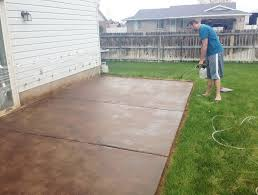 Stain Concrete Patio Yourself How To Stain A Concrete Patio Yourself Home Design Ideas