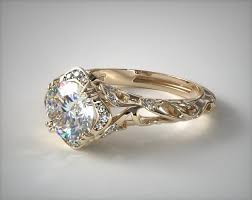 engagement rings yellow gold diamond filigree engagement ring 18k yellow gold 17450y