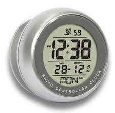 peers hardy precision radio controlled lcd bathroom sucker clock