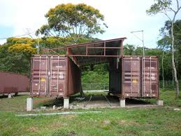 nice brown nuance of the container house kits that has simple
