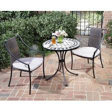 Grey Bistro Table Home Styles 3 Bistro Set With Marble Table And Laguna Dining